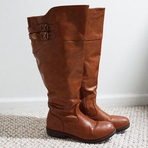 Journee Collection Tall Brown Boots - Wide Calf